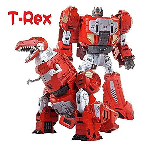 Volcanicus Transformer Power Ranger Grimlock Alloy Dinosaur Action Figure Robot Toys Gifts for Kids Boys (Grimlock(Red T-rex) ()
