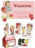 Set of 12 Valentine Vintage Style Lace-Up Cards