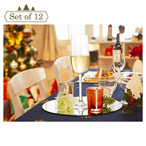 10-inch Round Mirror Trays for Christmas Decoration, Mirror Tray, Candle Tray, Wedding Centerpieces, 12 Pack, Rounded Edge, 2mm Thickness