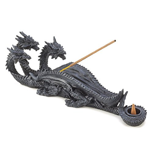 Head Mythical Dragon Figure Incense Stick Burner and Cone Burner ()
