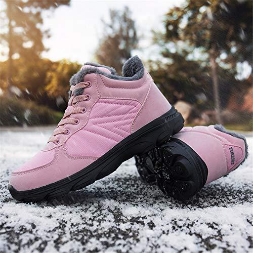 Stivaletti Invernali 46EU Rosa Caldo Scarpe TORISKY Piatto Cotone Caviglia Outdoor Donna Uomo Stivali Neve 36 qtwUvF