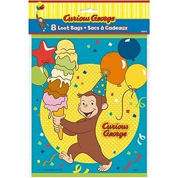 おさるのジョージ ルートバッグ 8枚入り キュリアスジョージ ビニール袋 ビニールバッグ Curious George