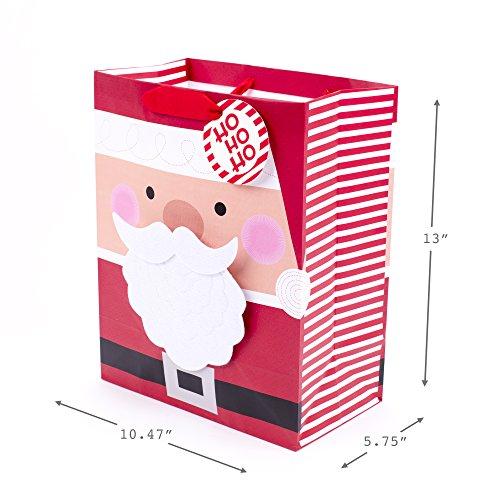 Hallmark 13″ Large Christmas Gift Bag with Tissue Paper (Wearable Santa Beard)