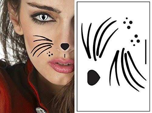 Cat Style Kit Temporary Tattoos | Includes Cat Eyes | Skin Safe | Fast Delivery]()