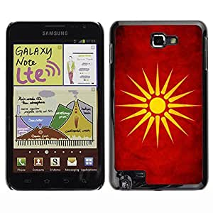 Shell-Star ( National Flag Series-Macedonia ) Snap On Hard Protective Case For Galaxy Note / i717 / T879 / N7000 / i9220