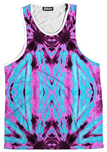 [Beloved Shirts Neon Dye Men's Tank - Premium All Over Print Graphic Tanks - Large] (Neon Outfits)