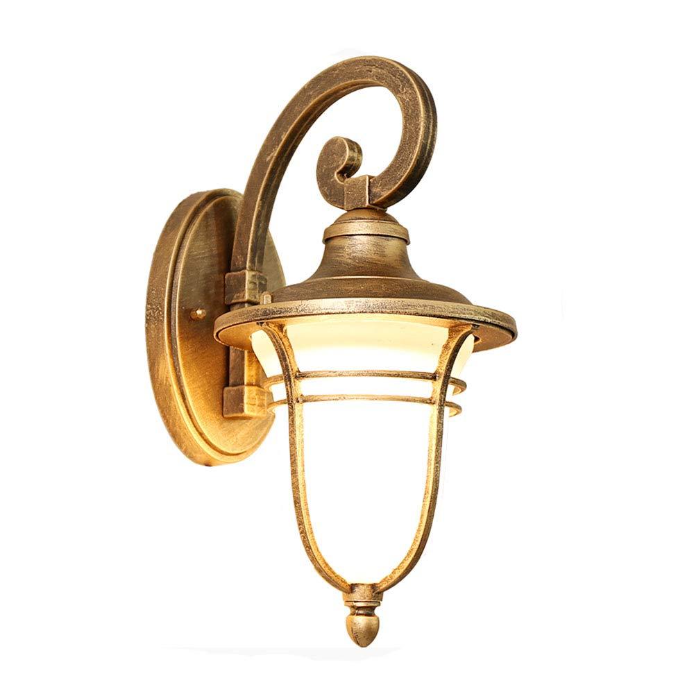 E27 impermeabile parete luce esterna interna lampada da parete vintage bronzo cast alluminio vetro schermo lampade esterne casa parete lampadina corridoio ingresso giardino illuminazione