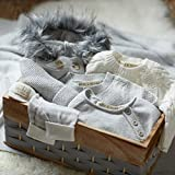 Hope & Henry Layette Grey Baby Sweater Romper Made