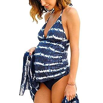09695bdacefaa Femme Enceinte Maillot De Bain Maillot Fleuri Femme Grossesse Bandages  Bikini Maternité de Plage Ete