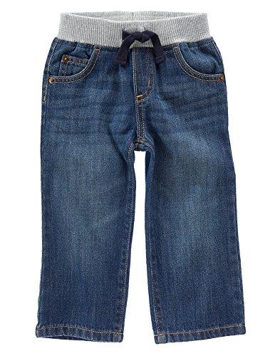 Crazy 8 Toddler Boys' Toddler Medium Wash Rib-Waist Pull-On Jeans, Medium Wash, 2 Years (Rib Toddler)
