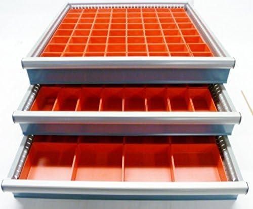 Schaller 112 Pc Red Plastic Box Assortment 2 Deep – Three 3 Sizes