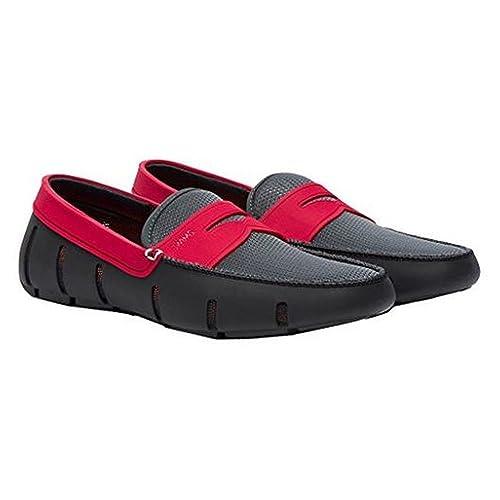 51e481d8 Swims - Mocasines para Hombre, Gris (Gris y Rojo), 42: Amazon.es: Zapatos y  complementos