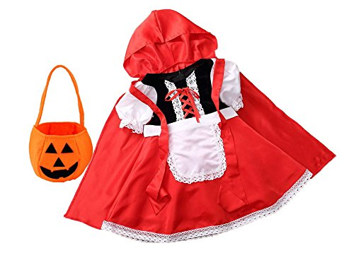 TOKYO-T Little Red Riding Hood Costume for Girls Halloween Size 5-6 - Little Red Riding Hood Shoes