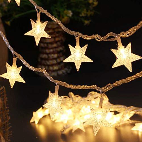 BJYHIYH Battery Powered String Lights 16ft 40 LED Star Fairy Lights Warm White