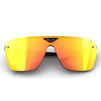 HECHEN Gafas Deportivas Gafas Polarizadas Protección UV para Ciclismo Pesca Alpinismo Esquí, Unisex,A