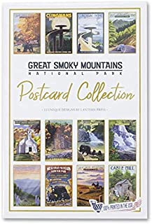 product image for Smoky Mountain National Park, Tennessee - Postcard Set of 12 Different Original Hand Illustrated Postcards by Lantern Press