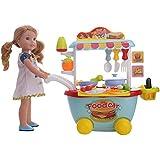 ZWSISU Food Car for 14inch American girl Wellie wishers doll furniture