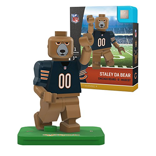 OYO NFL Chicago Bears Gen4 Limited Edition Staley Da Bear Mini Figure, Small, White