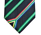 South Africa Tie - Inspired by the South African Flag. 100% Woven Silk. South African Tie.