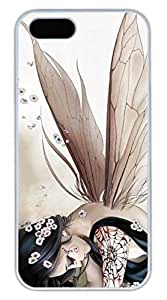 iPhone 5S Case, iPhone 5 Cover, iPhone 5S Anime Butterfly Elves Hard White Cases