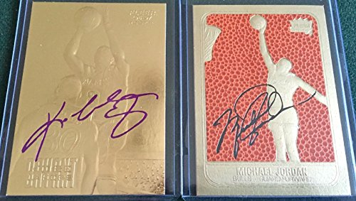 MICHAEL JORDAN & KOBE BRYANT SIGNATURED 23KT GOLD ROOKIE CARD LOT! NBA LEGENDS!