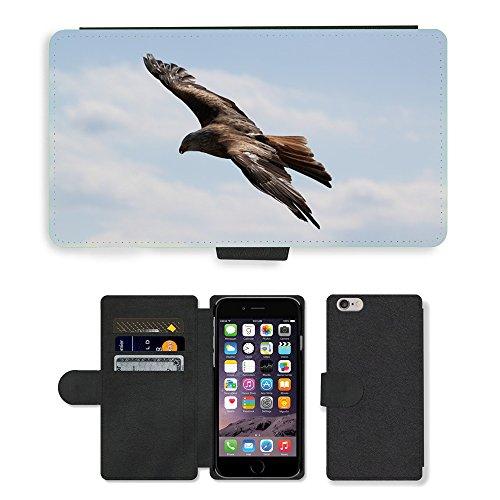 "GoGoMobile PU Leather Flip Custodia Protettiva Case Cover per // M00123728 Oiseaux Aigle // Apple iPhone 6 4.7"""