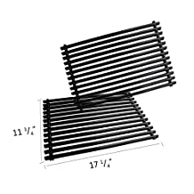 Onlyfire Heavy Duty Porcelain Enameled Steel Replacement Cooking Grill Grid Grates Fit Weber 7525 for Spirit Genesis Grills, Lowes Model Grills