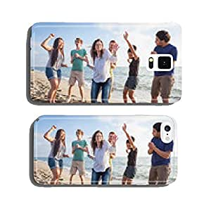 Multiracial Group of Friends Having a Party at Beach cell phone cover case iPhone6