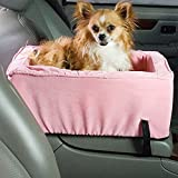 Snoozer Small Luxury Console Pet Car Seat, Pink/Pink Microsuede
