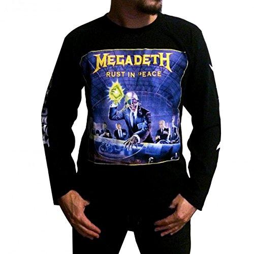 Jigg And Roll Megadeth T Shirt Long Sleeve XXX-Large Black Xxxl Band T-shirts