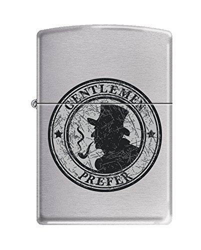 (Zippo Gentlemen Prefer Brushed Chrome Pipe Lighter)