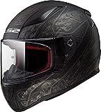 LS2 Helmets Rapid Crypt Graphic unisex-adult full-face-helmet-style Full Face Helmet (Matte Black,Medium),1 Pack