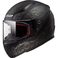 TORC LS2 Retro - Casco de cara completa para moto unisex para adulto, Casco estilo cara completa, Crypt, Mediano