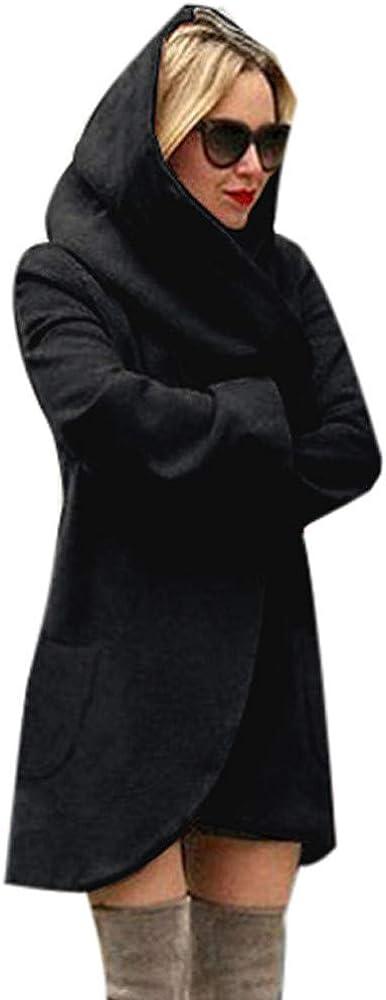 OverDose mujer De Lana con Capucha Delgada Capa Suelto De Las SeñOras MáS El TamañO Ocasional Sudaderas con Capucha XXXXL Abrigo De La Chaqueta Superior Abrigos Mujer Invierno Rebajas