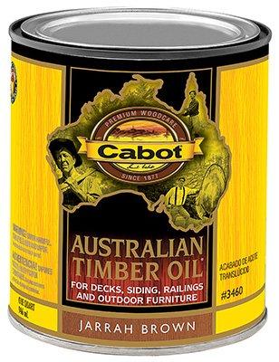 CabotStain 177445 Australian Timber Oil Penetrating Formula Jarrah Brown, 1 - Wood Lancaster Brown