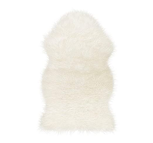 Ikea Faux Fur Sheepskin Throw Rug, Blanket, Chair Cover (White) Rugs at amazon