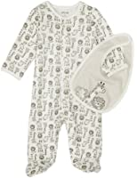 Little Me Unisex Baby Safari Footie and Bib