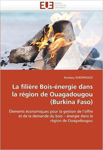 En ligne téléchargement La filière Bois-énergie dans la région de Ouagadougou (Burkina Faso): Éléments économiques pour la gestion de l'offre et de la demande du bois ? énergie dans la région de Ouagadougou pdf