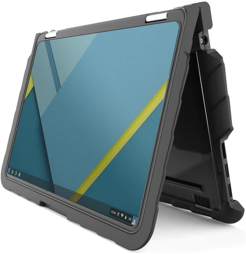 Gumdrop DropTech Case Designed for Lenovo Yoga 11e Chromebook and Clamshell Laptop for K-12 Students, Teachers, Kids - Black, Rugged, Shock Absorbing, Extreme Drop Protection