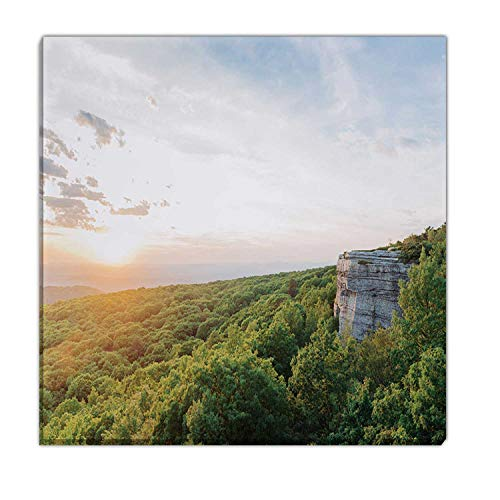 Hitecera Summer Sunset Over Scenic Valley Lanscape View Catskill Mountains NY Gifts for Travelers,045841 Bedroom Wall Decor,16x16in