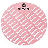 Hospeco Airworks AWUS004 Urinal Deodorizer Screen Strawberry Red (6 Boxes of 10)