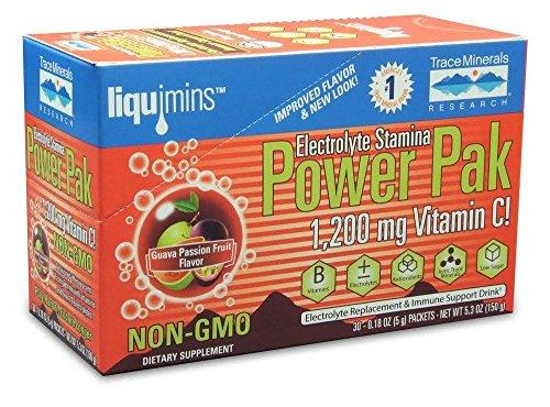 rolyte Stamina Power Pak Non-GMO Guava Passion Fruit Supplement, 30 Count (Guava Vitamin C)
