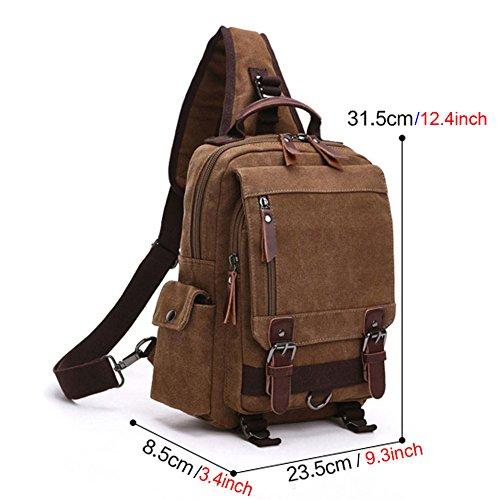 Sling Chest Bag Shoulder Backpack Fresion 174 Canvas Chest