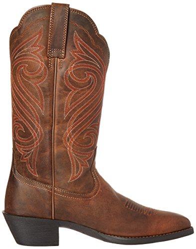 Ariat Mujeres Round Up R Toe Western Cowboy Bota Dark Toffee