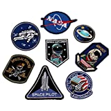 9PCS Embroidery Astronaut Patches Applique Iron On Diver Astronau Air Force Badge