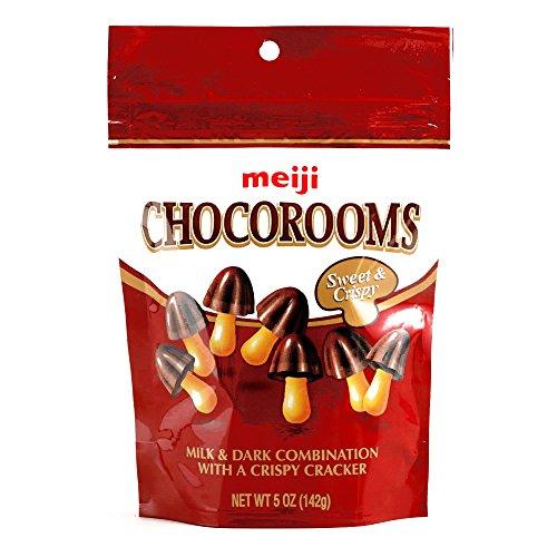 Meiji Chocorooms Bag 5 oz each (3 Items Per Order)