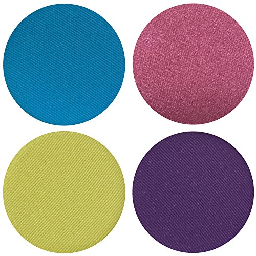 Look Makeup 80s (Totally 80s Collection Eyeshadow Quad: 4 Single Eye Shadows Makeup Magnetic Refill Pan 26mm, Paraben Free, Gluten Free, Made in the)