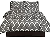 Image of Printed Duvet-Cover-Set - Brushed Velvety Microfiber - Luxurious, Comfortable, Breathable, Soft & Extremely Durable - Wrinkle, Fade & Stain Resistant - Hotel Quality By Utopia Bedding (Queen,Grey)