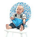 My Little Seat Hula Hoops Travel Chair, Blue/White