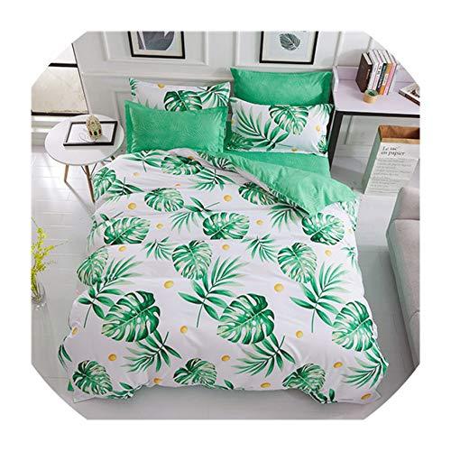 - Spring Bedding Set Orange Cactus Duvet Cover Set Big Ben Flat Sheet Pisa Tower Jogo de cama Bed Linen Heart Duvet Cover,Green Leaf,King,Flat Sheet